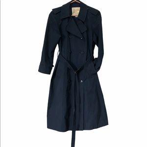 Vintage London Fog Navy Trench Coat, size 6P